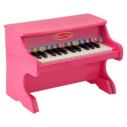 Melissa & Doug® Learn-to-Play Pink Piano With 25 Keys and Color-Coded Songbook - image 1 of 1