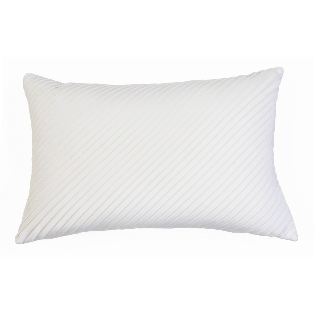 """Image of """"14""""""""x20"""""""" Davidson Pleated Velvet Pillow Cream - Décor Therapy"""""""