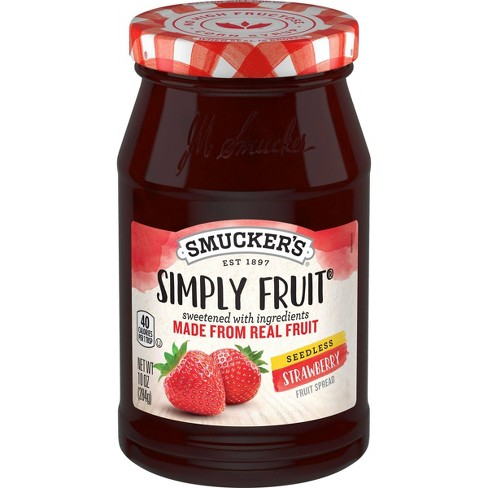 Smucker's Simply Fruit Strawberry Seedless Spreadable Fruit - 10oz - image 1 of 3