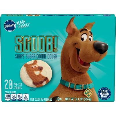 Pillsbury Ready to Bake Scooby Shape Sugar Cookie Dough - 9.1oz/20ct