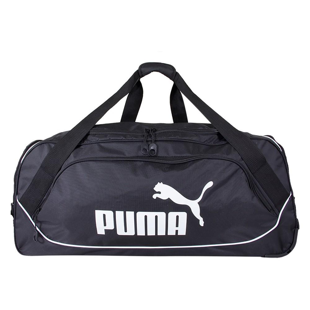 "Image of ""Puma 30"""" Rolling Duffel Bag - Black, Gray Black"""
