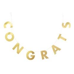 """""""Congrats"""" Party Banner Gold - Spritz™"""