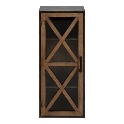 """30"""" x 12"""" Mace Decorative Rustic Floating Storage Cabinet Rustic Brown - Kate & Laurel All Things Decor"""