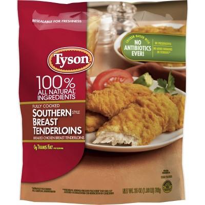 Tyson All Natural Southern Breast Tenderloins - Frozen - 25oz