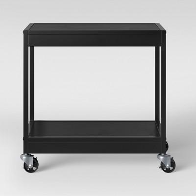 2 Tier Metal Utility Cart Black - Room Essentials™