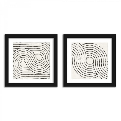 Americanflat Mid Century Arches - Set of 2 Framed Prints by Wild Apple