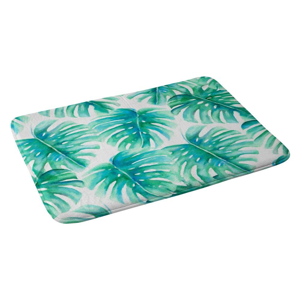Jacqueline Maldonado Paradise Palms Bath Rugs and Mats Green 24