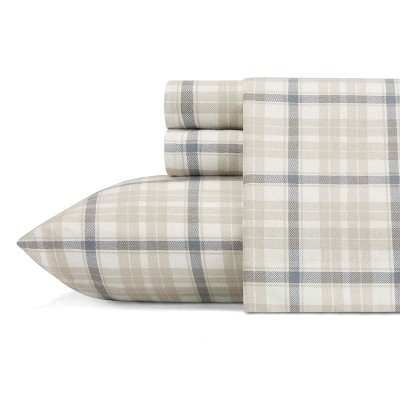 Queen Flannel Sheet Set Westfall Plaid - Eddie Bauer