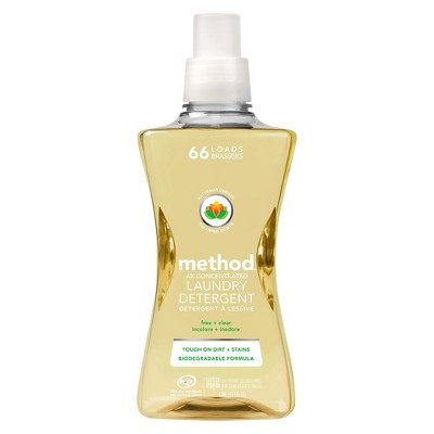 Method 4x Concentrated Laundry Detergent Free + Clear 53.5 oz