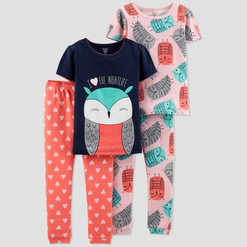 772726bc7b22 Baby Girls  4pc Owl South Pajama Set - Just One You™ Made By ...