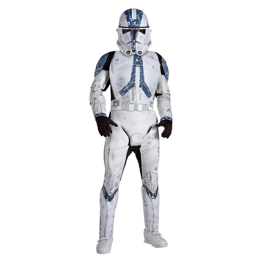 Star Wars Clone Trooper Kids' Costume Large (10-12), Kids Unisex, Size: L(10-12), White
