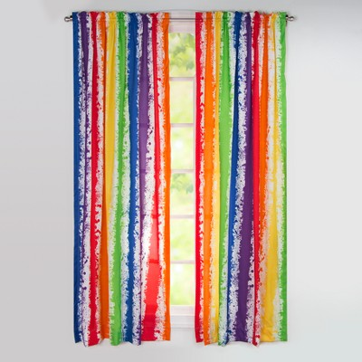 """Brain Waves 84"""" Rod Pocket Curtain Panel - Leaning Linens"""