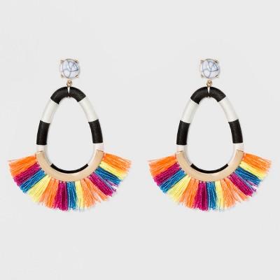 SUGARFIX by BaubleBar Hoop Earrings with Fringe – Target