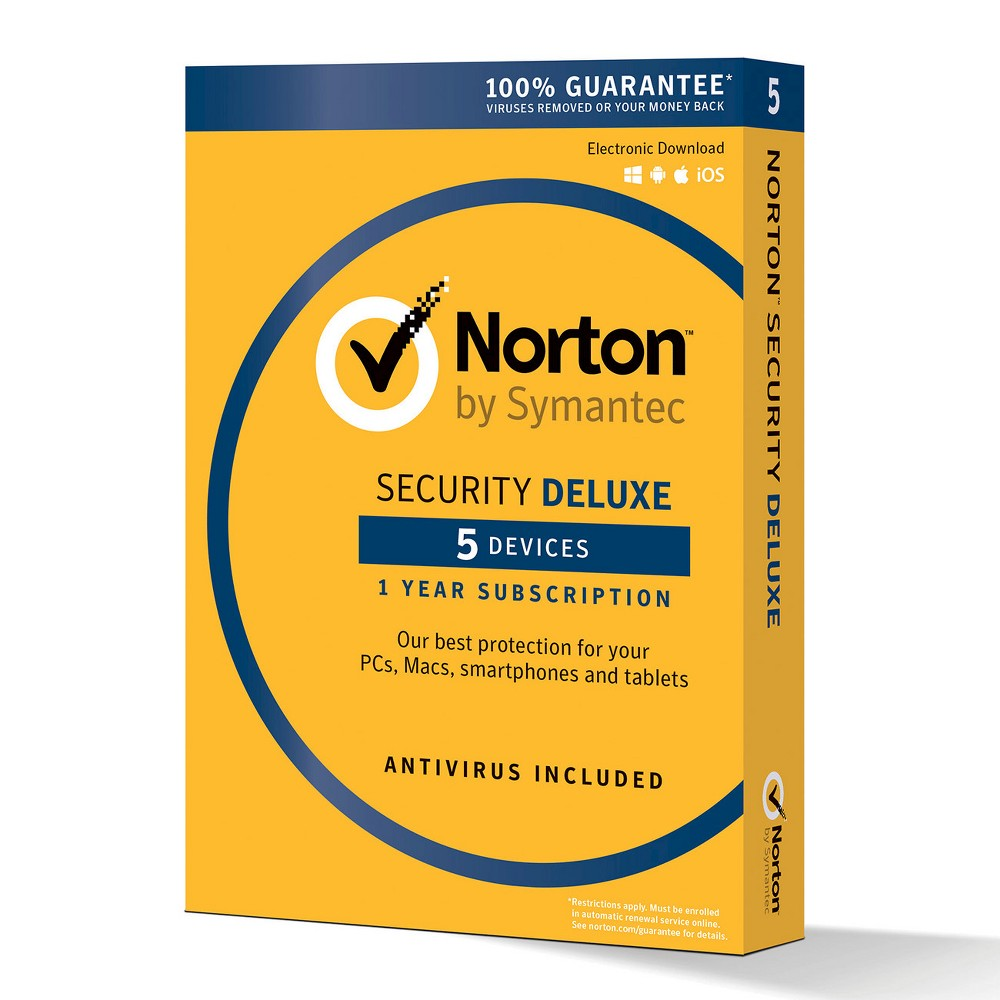 Norton Security Deluxe - 5 Devices PC Software