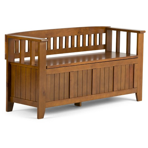 Acadian Entryway Bench - Simpli Home - image 1 of 6