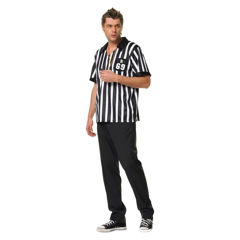 Image of Halloween Men's Referee Shirt Costume - (M/L), Size: Medium/Large, Black