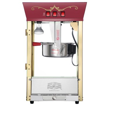 Great Northern Popcorn 8 Ounce Antique Style Popcorn Machine - Electric Countertop Popcorn Maker (Red)