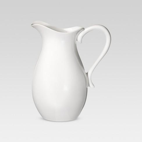 2.5L Porcelain Pitcher White - Threshold™ - image 1 of 4