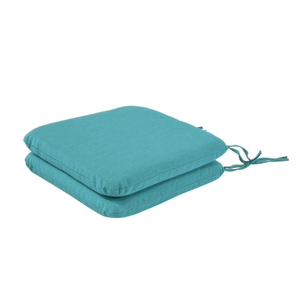 Image of 2pk Pacifica Premium Outdoor Seat Pad Green - Astella