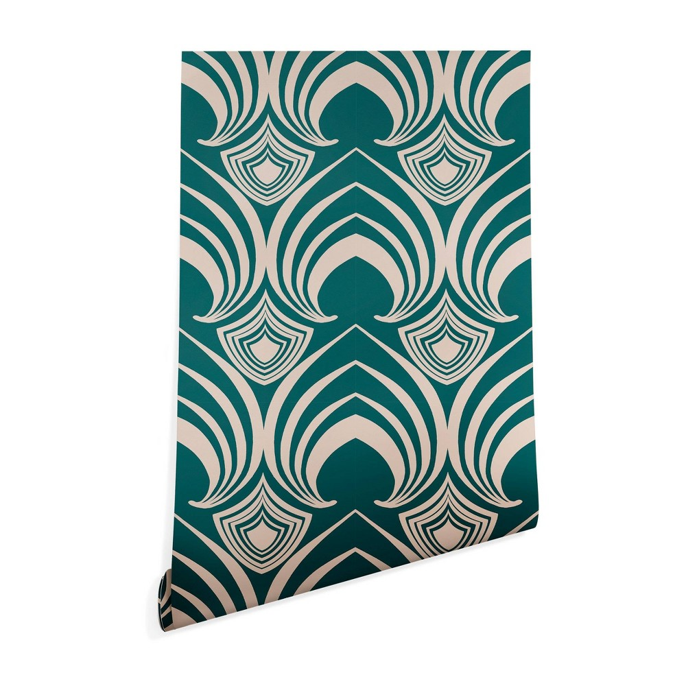 "Image of ""2"""" x 10"""" Gabriela Fuente Classic time Wallpaper Green - Deny Designs, Size: 2""""x10"""""""