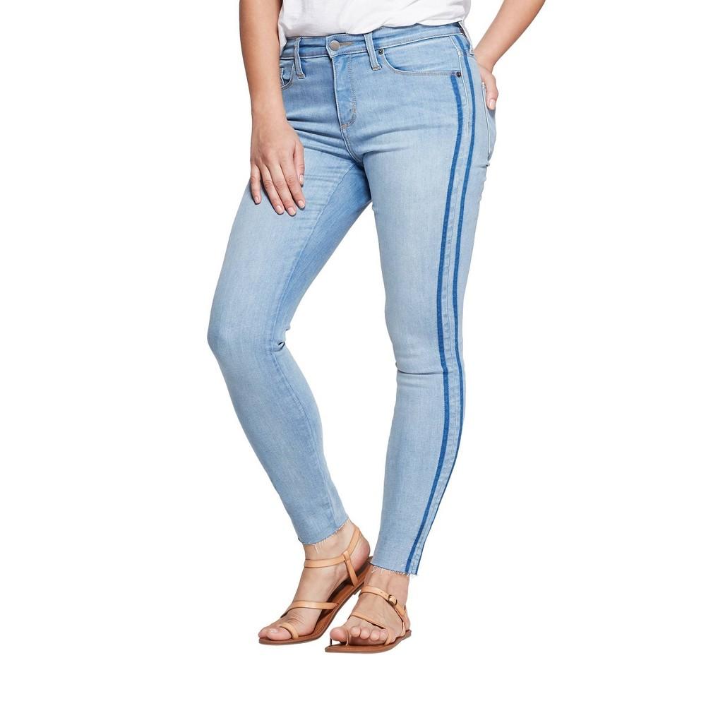 Women's High-Rise Skinny Jeans - Universal Thread Light Wash 08, Size: 8, Blue