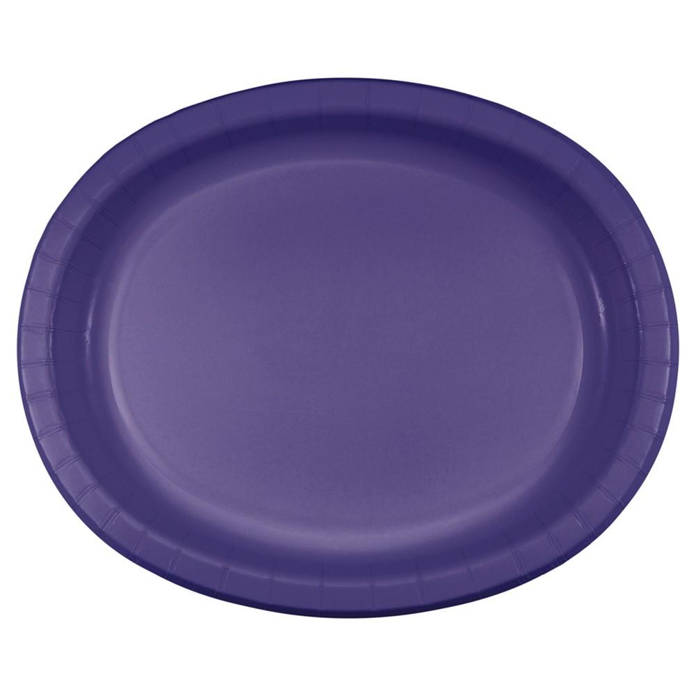 Purple 10 X 12 Oval Platters 8ct