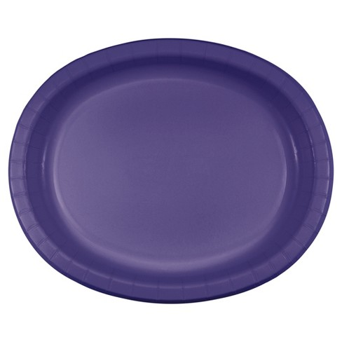 "Purple 10"" x 12"" Oval Platters - 8ct - image 1 of 1"