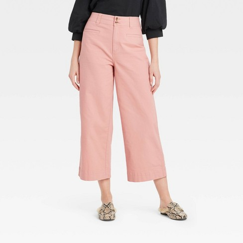 Women's Cropped Wide Leg Fashion Pants - A New Day™ - image 1 of 3