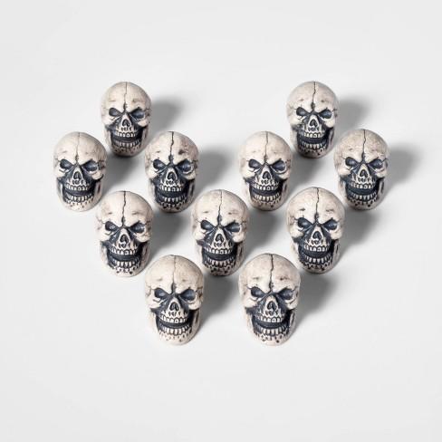 17ct Mini Skulls Decorative Halloween Prop - Hyde & EEK! Boutique™ - image 1 of 2