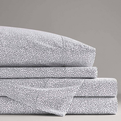 Printed Pattern Percale Cotton Sheet Set - Now House by Jonathan Adler - image 1 of 4