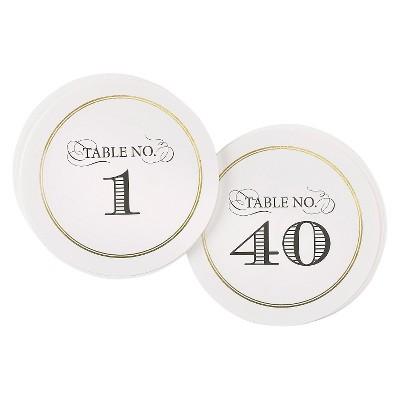 """""""1-40"""" Elegance Table Numbers"""