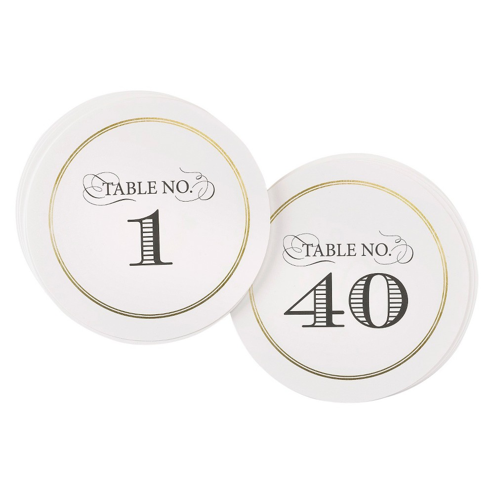 "Image of """"""1-40"""" Elegance Table Numbers"""