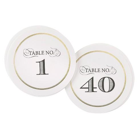 """1-40"" Elegance Table Numbers - image 1 of 1"
