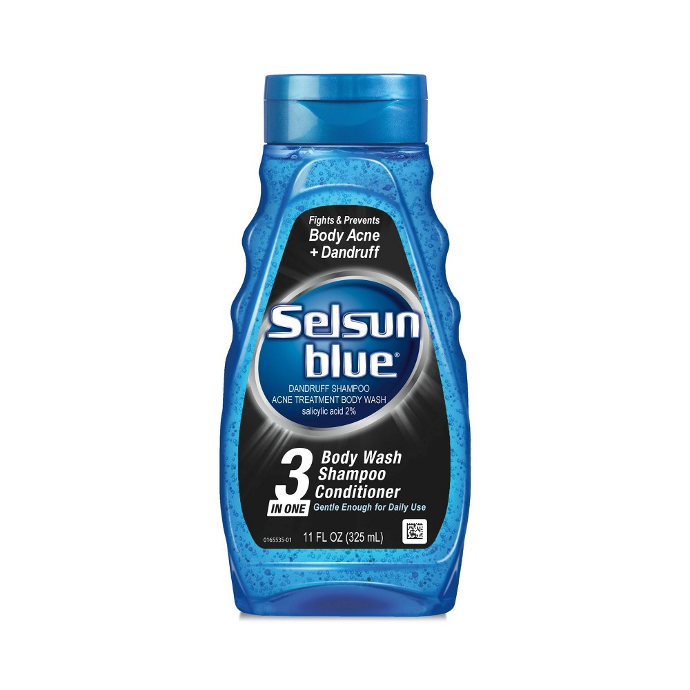 Image of Selsun Blue 3-in-1 Body Wash+Shampoo And Conditioner - 11 fl oz
