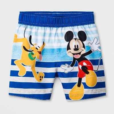 Toddler Boys' Mickey Mouse & Friends Swim Trunks - Blue 2T