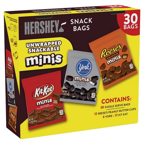 fdac9c547ea HERSHEY S Assorted Minis Snack Bags Variety Pack - 30ct   Target