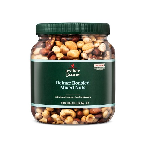 Unsalted Deluxe Roasted Mixed Nuts 30oz - Archer Farms™ - image 1 of 1