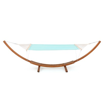 Richardson Outdoor Hammock With Base - Acqua Blue - Christopher Knight Home