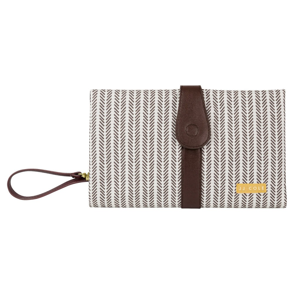 JJ Cole Changing Clutch, Dashed Stripe, Brown