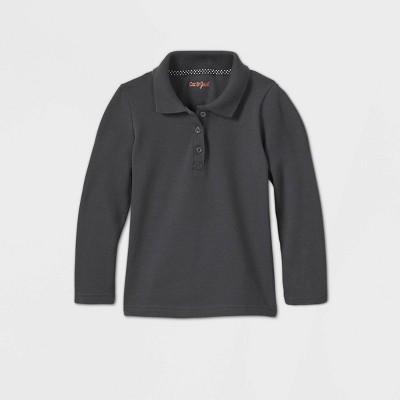 Toddler Girls' Long Sleeve Interlock Uniform Polo Shirt - Cat & Jack™