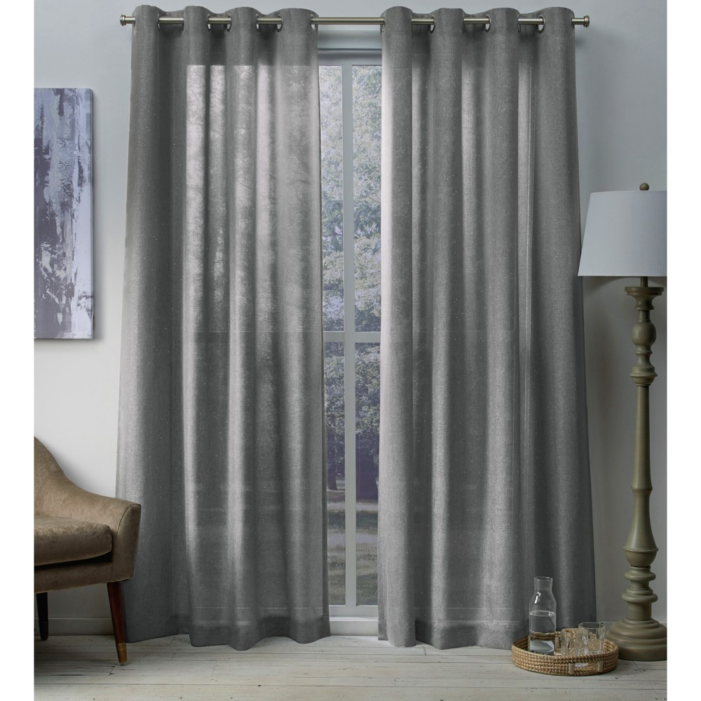 Sparkles curtain panels Black Pearl 54x84 - Exclusive Home