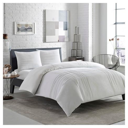 Variegated Pleats Comforter Set White - City Scene® - image 1 of 1