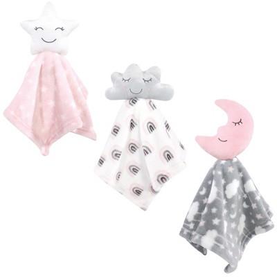 Hudson Baby Infant Girl Animal Face Security Blanket, Star Girl, One Size