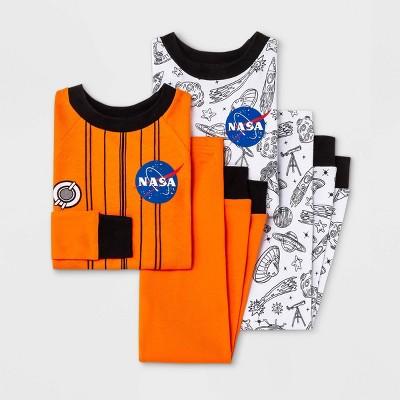 Toddler Boys' 4pc NASA Pajama Set - White/Orange
