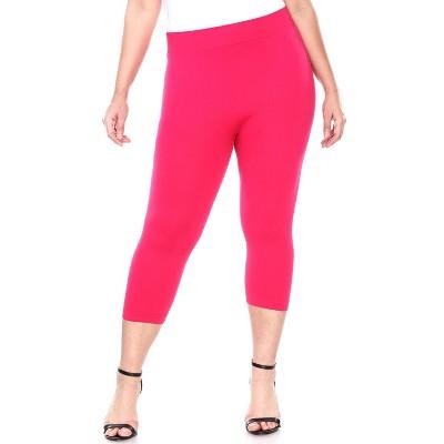 Women's Plus Size Super Soft Capri Leggings - One Size Fits Most Plus - White Mark