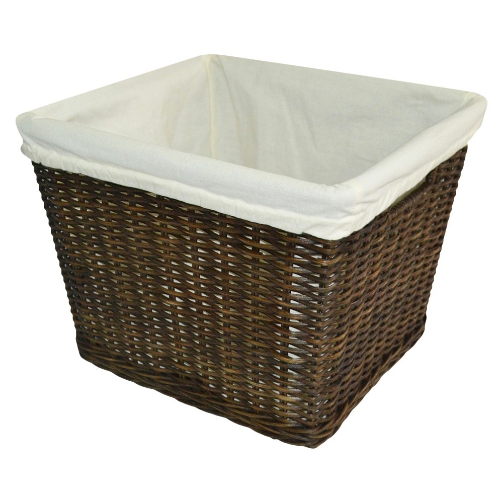 Large Decorative Toy Storage Basket with Liner Brown - Pillowfort, Espresso Brown