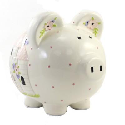 "Bank 7.75"" Unicorn Castle Piggy Bank Money Saving  -  Decorative Banks"