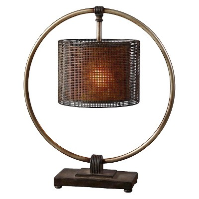 Uttermost Dalou Hanging Shade Table Lamp - Bronze Brown