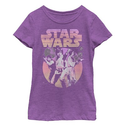 Girl's Star Wars Classic Trio Scene T-Shirt