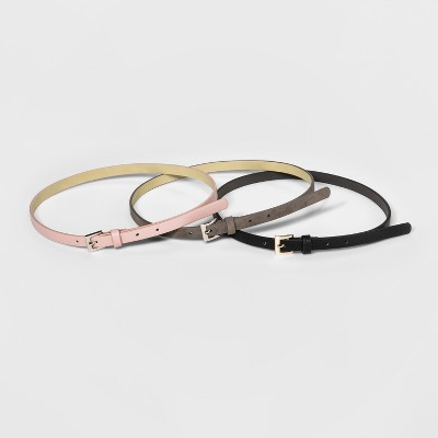 Women's 3 for 1 Belt - A New Day™ Black